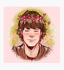 Flower Crown Sam Photographic Print