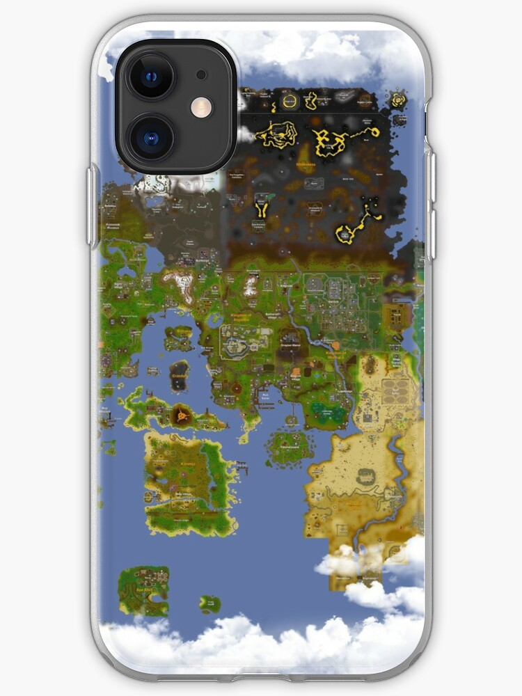 \'OSRS World map\' iPhone Case by Ben Conod