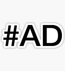 #AD for Digital Influencers T-Shirt Sticker