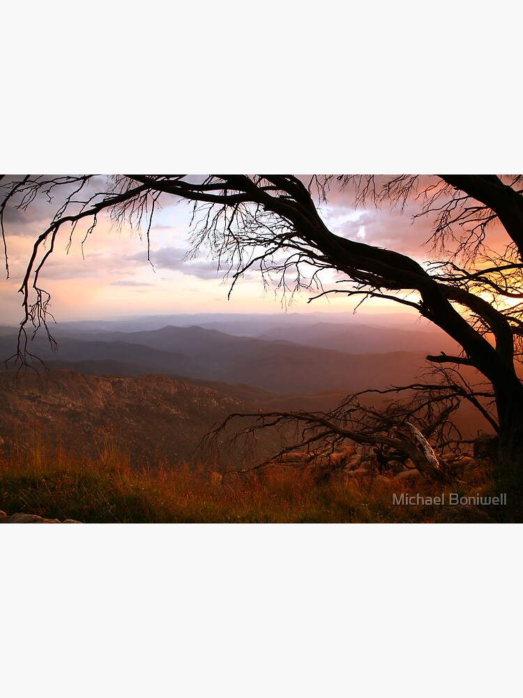 """Sunset view from """"The Horn"""" at Mt Buffalo, Australia by Chockstone"""