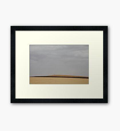 landscapes #170, three stripes, one tree Framed Print