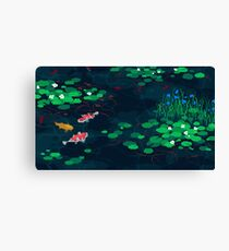 aesthetic pixel fish  Canvas Print