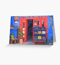 Mexican Storefront Greeting Card