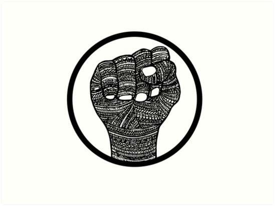 Picture of a black power fist