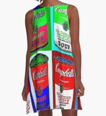 CAMPBELL SOUP : Warhol Style Collage Print A-Line Dress