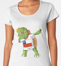 Chile Dabbing Turtle Women's Premium T-Shirt