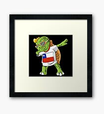 Chile Dabbing Turtle Framed Print
