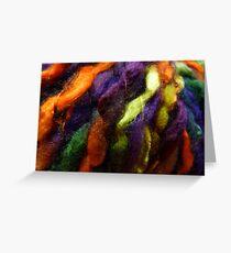 Colorful yarn Greeting Card