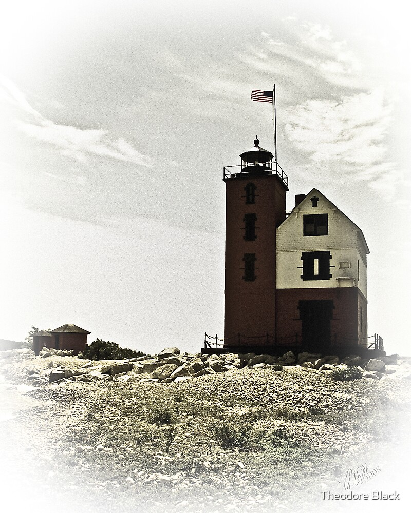 Round Island Light by Theodore Black