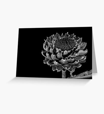 BLACK ARTICHOKE (CARD) Greeting Card