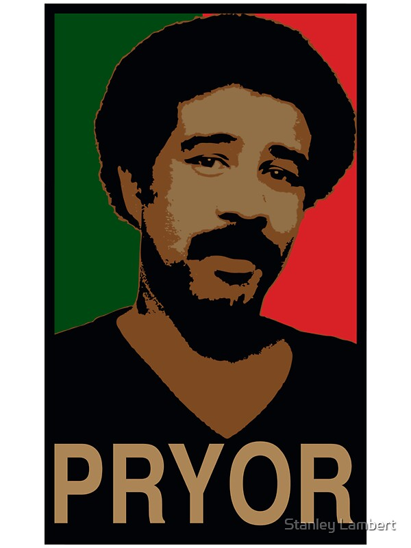flat top haircut quot richard pryor quot stickers by stanley lambert redbubble 9438