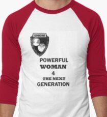 POWERFUL WOMAN Men's Baseball ¾ T-Shirt