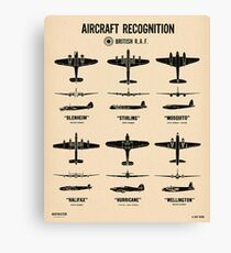 Aircraft Recognition British WWII Canvas Print