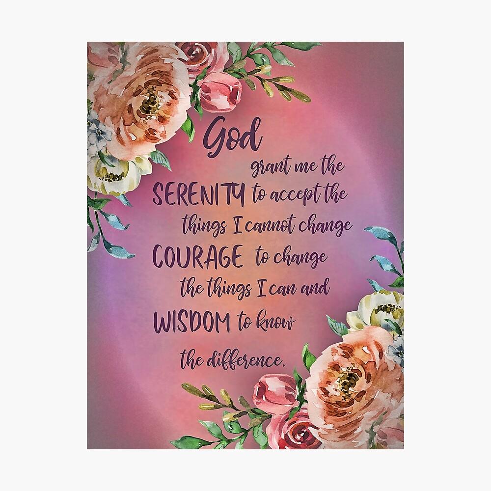 "Canvas Art Print /""Serenity Prayer Floral/"""