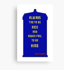 Twelfth Doctor Last Words 2 Canvas Print