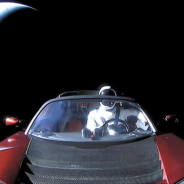 SpaceX's Starman Leaving Earth Behind by bobbooo