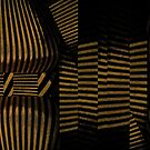 Gold and Black Dimensional Curves by Melissa J Barrett
