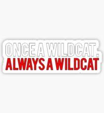 Pegatina Una vez que una escuela secundaria Wildcat