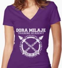 Dora Milaje Training Academy Class of 2018 Women's Fitted V-Neck T-Shirt