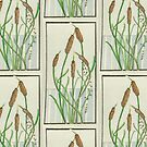 Pen Strips Series #4 Cattails by TheRBStudio