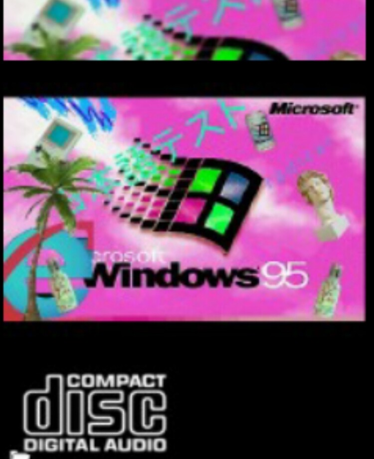 VAPORWAVE 80S 90S BLACK COMPUTER WINDOWS LOGO | iPad Case & Skin