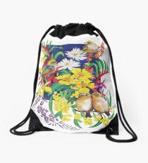 Silvereyes & Flowers Drawstring Bag