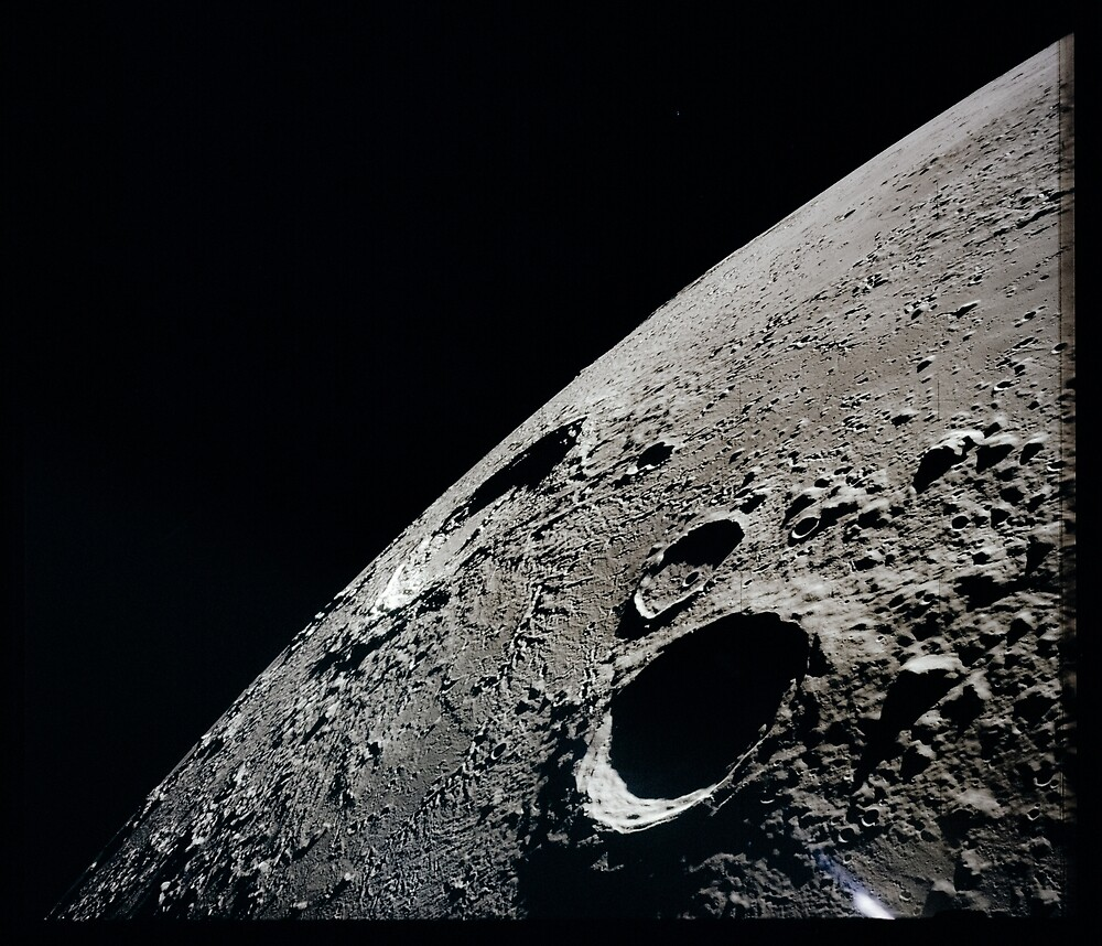 Moon Details by Space Prints