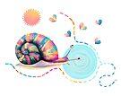 Rainbow Snail Trail by Karin Taylor