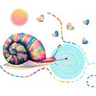 Rainbow Snail Trail by Karin Taylor