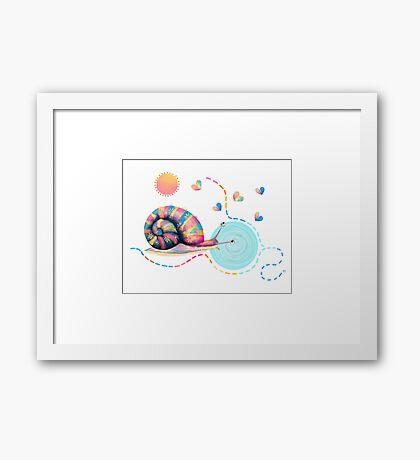 Rainbow Snail Trail Framed Print