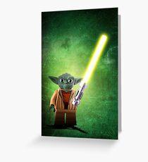 Yoda - Star wars lego digital art.  Greeting Card