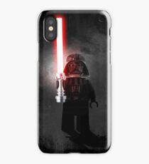 Darth Vader - Star wars lego digital art.  iPhone Case
