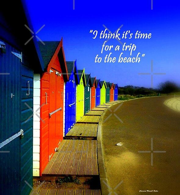 Bright Beach Huts by Charmiene Maxwell-Batten