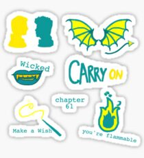 Carry On Rainbow Rowell Snowbaz Stickers Sticker