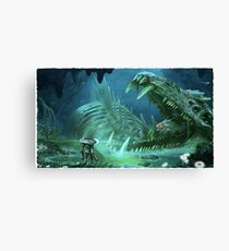 Ghost Fossil Subnautica Canvas Print