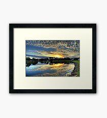 """ Sunrise on the Brodribb River Marlo Vic "" Framed Print"
