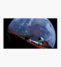 Spacex Driving Around Earth Photographic Print