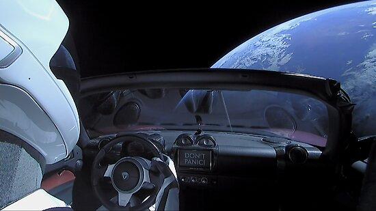 Spacex Panik nicht Starman von Boy-With-Hat