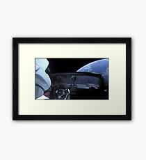 Spacex DON'T PANIC Starman Framed Print