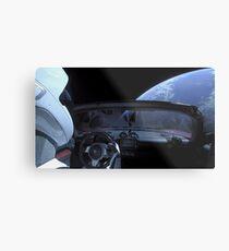 Spacex DON'T PANIC Starman Metal Print