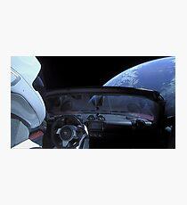 Spacex DON'T PANIC Starman Photographic Print