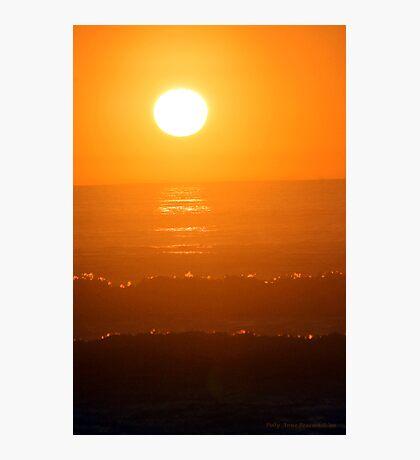 Orange Orb Photographic Print
