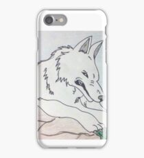 Moro The Wolf Giant Goddess  iPhone Case/Skin