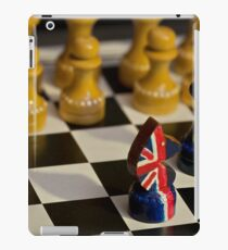chess Great Britain and the European Union confrontation iPad Case/Skin