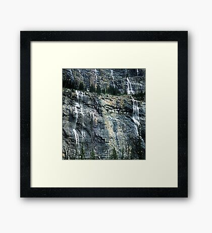 The Weeping Wall Framed Print