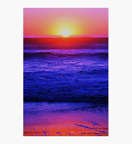 Sunset and Riptides Photographic Print