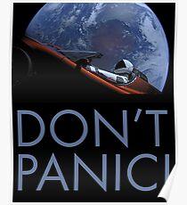 Spacex Keine Panik Poster