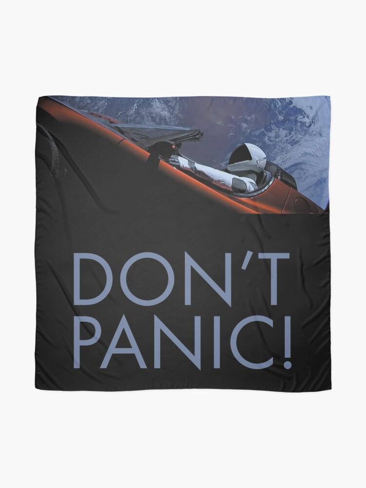 Alternative Ansicht von Spacex Keine Panik Tuch