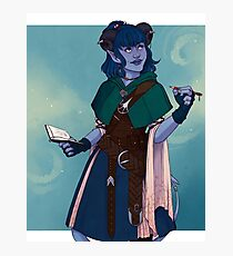 Just a little blue tiefling Photographic Print