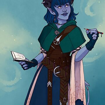 Just a little blue tiefling by radiuhoh
